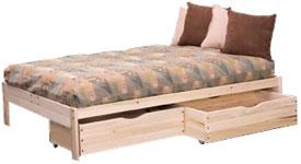 nomad platform bed - goodnight moon futon